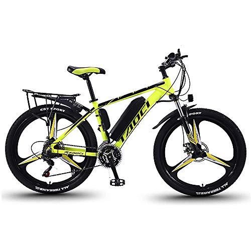 QYL 350W 36V 13Ah Bicicletas eléctricas para los Adultos, en Bicicletas de aleación de magnesio Ebikes de Tierra, 26' batería extraíble Litio-Ion Ebike Montaña Hombres