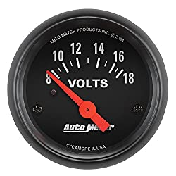 top 10 volt meter gauges AUTO METER 2645 Z series electric voltmeter, 2.3 125 inches