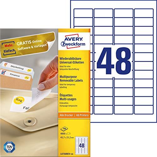 Folienetiketten A4 Bogen 105 x 42 mm Polyester selbstklebend silber 14 Stk.