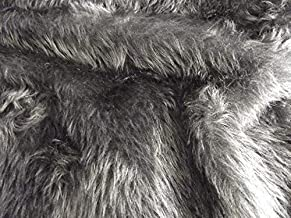 Plain Fun Faux Fur Fabric Material DARK GREY