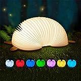 LED De La Lámpara del Libro, Historieta Creativa 7 Colores USB Plegable Lámpara De Lectura Inicio De Simulación De Vuelo para La Noche Sala Dormitorio Estudio Compartida,C