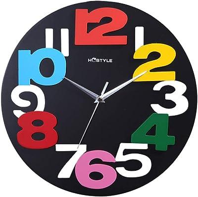 SYGZ 33CM Wall Clock Round Quiet Quartz Clock,Home Decoration Photo Frame Wall Clock