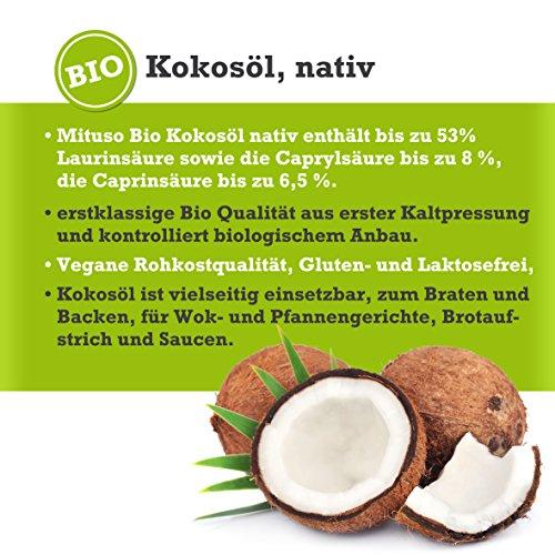 mituso Bio Kokosöl, nativ, DE-ÖKO-037, 1er Pack (1 x 1000 ml) im praktischen Eimer - 6