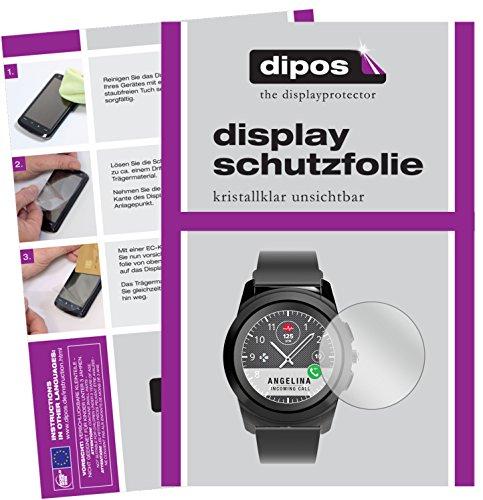 dipos I 6X Schutzfolie klar kompatibel mit MyKronoz ZeTime Folie Bildschirmschutzfolie