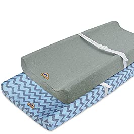 Super Soft and Stretchy Changing Pad Cover 2pk by BlueSnail Anchor
