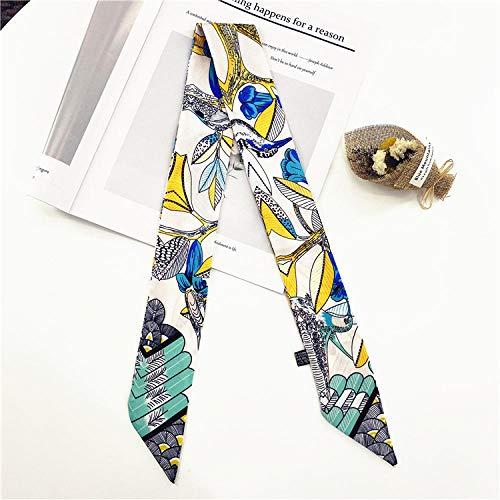 Bufandas para mujer bufanda Impresión creativa bufandas de seda pequeñas bufandas profesionales...