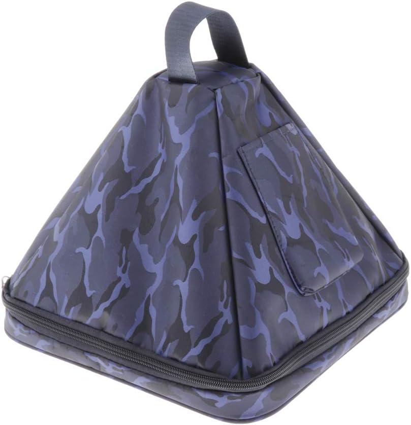 H HILABEE Bolsa de Almacenamiento de Bolsa de Pir/ámide de Cristal de 7//10 Pulgadas con Cremallera 10 pulgadas camuflaje azul