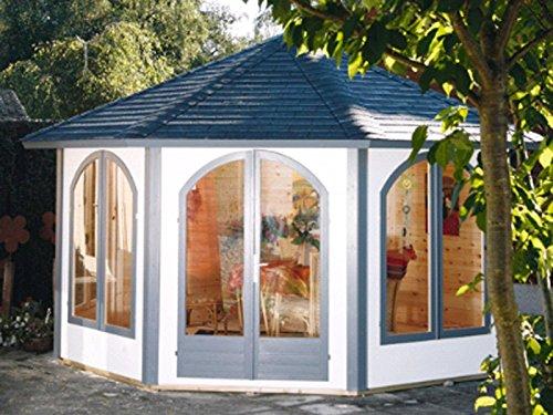 Wolff Finnhaus Pavillon Lugano 42-A natur mit 4 Fenstern - RESTPOSTEN