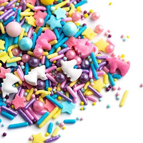 Sweets Indeed Sprinklefetti Happy Unicorn Sprinkles - Gluten-Free Pastel Sprinkle Medley for Baking Cupcakes and Cakes - 6.5 ounces