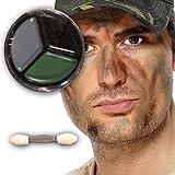NET TOYS Tarnschminke Camouflage Make up braun schwarz grün Soldaten Schminke Faschingsschminke...