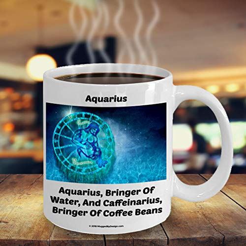 ArthuereBack watermann-waterdrager-grappige dierencirkel-sterrenbeeld-koffiemok A2 groot verjaardagscadeau voor koffieliefhebbers Geboren op 20 januari 18 februari