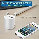 1台2役 Apple Pencil 充電スタンド 充電ドック アップルペンシル ホルダー 紛失防止 アルミニウム合金製 滑り止め 充電ケーブル付き