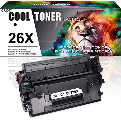Cool Toner Compatible Toner CF226X 26X Cartucho de tóner para HP LaserJet Pro M402 M402dn / M402n / M402dw - Impresora láser