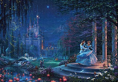 テンヨー ジグソーパズル ディズニー トーマス・キンケード Cinderella Dancing in the Starlight 1000ピース (51x73.5cm)