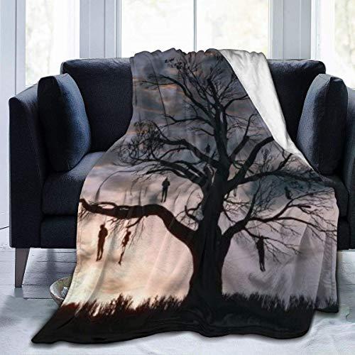 huancheng Wild Hunt Manta cálida y cómoda impresión súper ligera ultra suave y difusa micro forro polar, para sofá, regazo, viajes, cama