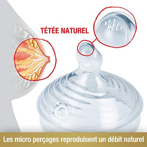 NUK Kit Biberons Nature Sense (150ml x2 et 260ml x2) avec Sucette Genius, Goupillon, Tétines et...