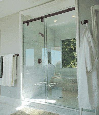 CRL 60' Oil Rubbed Bronze Hydroslide 180 Degree Standard Sliding Shower Door Kit