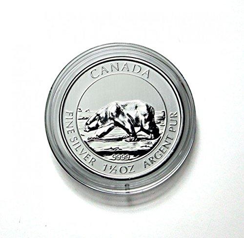 LINDNER Das Original Capsules Monnaies Ø intérieur 38,4 mm, Hauteur intérieure 4,5 mm, Paquet de 100, par ex. pour 1½ et 1¼ Oz. Canada (Argent) Polar Bear, Polar Fox, Bison