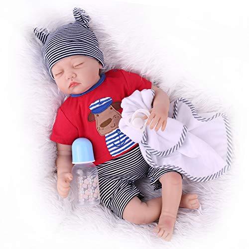 Reborn Baby Dolls 22 Inch Sleeping Lifelike Baby Reborn Dolls, Handmade Soft Real Baby Dolls Realistic Weighted Newborn Baby Dolls