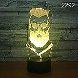 3D Luz De Noche,Luz De Ilusión 3D, Luz Nocturna Led Con Interruptor Táctil, Luz De Decoración De Dormitorio Con Cambio De 7 Colores, Regalo De Niño Y Niña-Maquinilla De Afeitar
