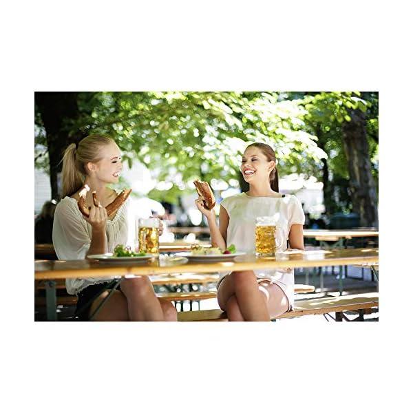 Deuba Bierzeltgarnitur Gartenmöbel-Set Klappbar 170 x 46 x 75cm 2X Bierbänke 1x Biertisch Festzeltgarnitur Biertisch…