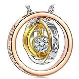 Kami Idea Cadeau Femme Noel Collier Femme Argent Cercle Anneaux Pendentif Bijoux...