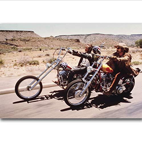 yhnjikl Easy Rider 1969 Classic Movie Film Hot Art Poster Top Silk Canvas Home Decor Picture Wall Printings 40x60cm Sin Marco