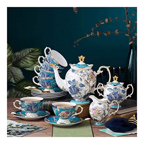 N&G Daily Equipment Coffee Cup and Saucer Set Light Bone China Home Modern Flower Tea Cup Gift Box Nordic Ceramic Afternoon Tea Set