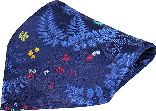 Motif de la feuille de fleur de la marine Moelleau de soie de Posh and Dandy