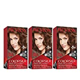 Revlon Colorsilk Beautiful Color Permanent Hair Color with 3D Gel Technology & Keratin, 100% Gray Coverage Hair Dye, 46 Medium Golden Chestnut Brown, 4.4 oz (Pack of 3)