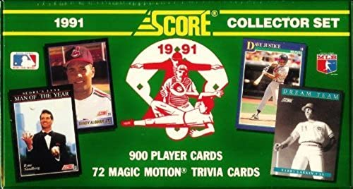 1991Score Baseball Cards Complete Factory Sealed Set of 900Cards [MISC.] by Score