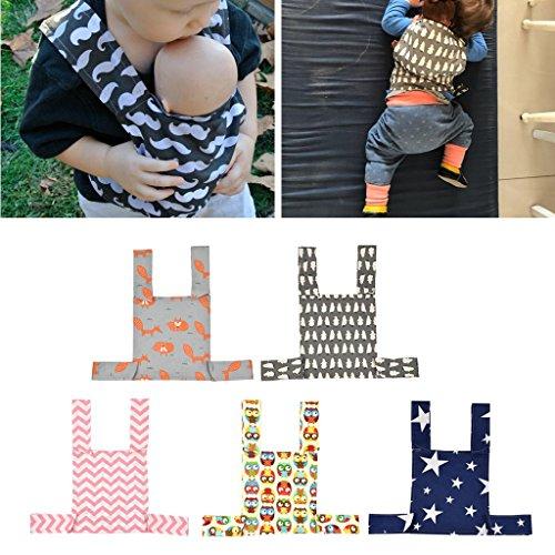 Autone Baby-Puppentrage, Sling Spielzeug für Kinder Kleinkind vorne hinten, Mini Tragetasche, Geburtstag (Stern)