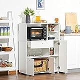 Immagine 2 homcom mobile cucina per microonde