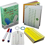 Fun Tree Books Multiplication Flash Cards (0-12) with 2 Key Rings and Bonus 2 Markers and 2 Multiplication Facts Charts or Posters
