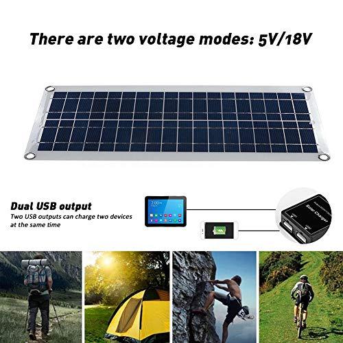 30W Solarpanel-Kit Tragbare,Solar Ladegerät kit,MPPT Solarregler,Dualer USB-Ausgang,5V / 1200 mA und 18V / 1,2A,30{59ef64757655d56282b167d0ef7ff85b525132212c378d6e7442592e6f25f140} höhere Effizienz,für Wohnwagen, Auto,Outdoor,Wandern