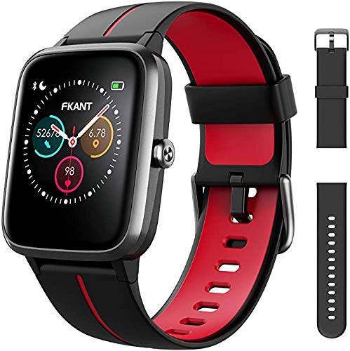 FKANT Smart Watch Women Men,14 Exercise Modes GPS Fitness Watch Heart Rate Sleep Monitor Fitness Tracker,DIY Watch Dial 5ATM Waterproof Calorie Activity Tracker for Android iOS (Samsung Huawei Apple)