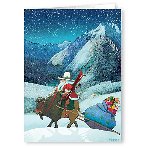 Buffalo Christmas Haul - Christmas Card- 18 Boxed Cards and Envelopes