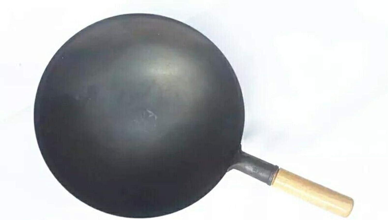 Ragoût Wok fonte poêle marmite bois non couché cuisine poignée cuisinière à induction cuisinière à induction pot pot restaurant, un hôtel, 36cm liuchang20 (Color : 40cm) 36cm