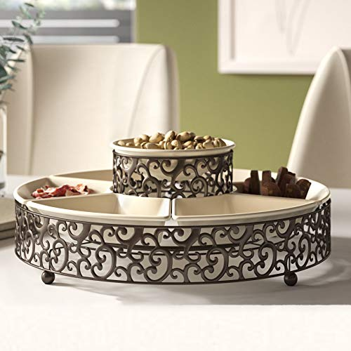 Elegant Serving Platter With 7 Sections.