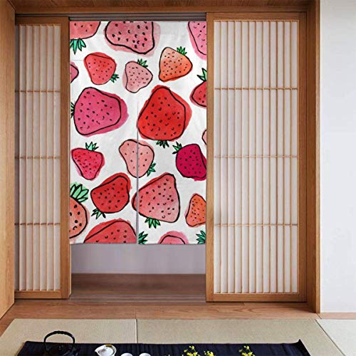 Tende oscuranti con motivo a francobolli rosa, per camera delle ragazze, isolamento termico essenziale per la cameretta dei bambini, 80 x 156 cm