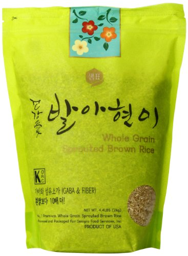 of gaba brown rice Sempio Whole Grain Sprouted Brown Rice, 4.4 Pound