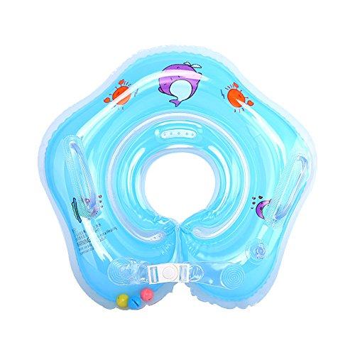 Hongtianyuan Anillo de Natación del bebé Anillo Inflable Nadar Protección del Medio Ambiente Anillo de Natación para Niños Juguetes de la Piscina (Azul)