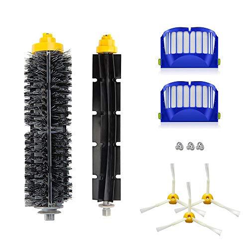 Set recambio compatible de cepillos para Roomba 520, 530, 540, 555, 560, 562 pet, 570, 580
