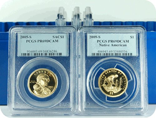 0 S Sacagawea 2005-09 Dollar DCAM PCGS PR-69