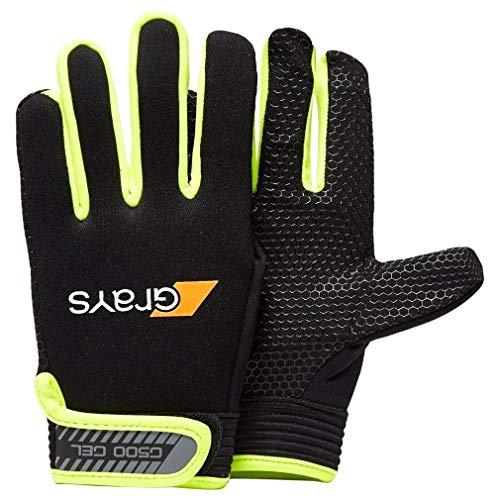 Grays G500 Gel Hockey Gloves (Black/Red,Small) by Grays