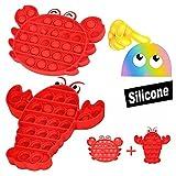 MMTX Pops it Bubble Sensory Fidget Push Toys, Pops It Fidget Juguete Sensorial para Aliviar El Estrés Juguete, Autismo Necesidades Especiales, Fun Squeeze Toys & Educational Gift Toys for Kids
