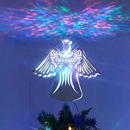 PEIDUO Christmas Clearance 11' RGB Praying Angel Tree Topper...