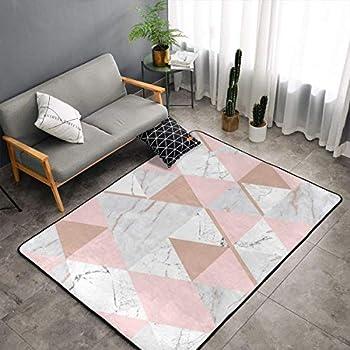 NiYoung Bedroom Livingroom Sitting-Room Big Size Area Rug Home Decor - Rose Gold Grey Marble Floor Mat Doormats Fast Dry Toilet Bath Rug Exercise Mat Throw Rugs Carpet