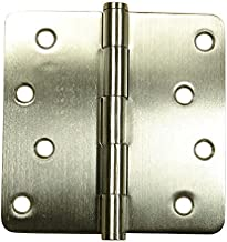2 Pack Hinge Outlet Spring Hinge 4 Inches with 5//8 Radius Square Stainless Steel Highly Rust Resistant