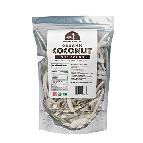 Mavuno Harvest Direct Trade Organic Dried Fruit, Coconut, 1 Pound, 16 Ounce